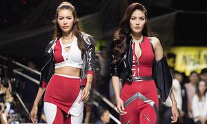 Lan Khuê, Minh Tú mặc đồ bó sát catwalk cùng dàn mẫu nam