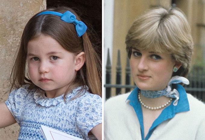 Cũng tại lễ rửa tội của Louis, ánh mắt cùng thái độ của Công chúa Charlotte với cánh săn ảnh được cho là thể hiện đúng tính cách của bà nội quá cố. Trong khi đó, anh trai của Charlotte, Hoàng tử George, bĩu môi, giống như Diana đã làm khi bà phải cố tỏ ra thích thú với các sự kiện chính thức của hoàng gia.