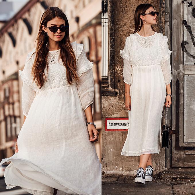 Xuống phố vào mùa này, các fashionista vẫn yêu thích các kiểu váy cổ điển từng gây sốt ở đầu mùa hè.