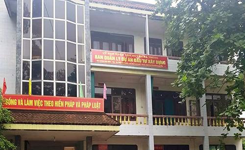 Trụ sở Ban quản lý dự án Đầu tư xây dựng huyện Hà Trung, nơi ông Tuyên bị tố cáo nhận tiền của doanh nghiệp. Ảnh: Lam Sơn.