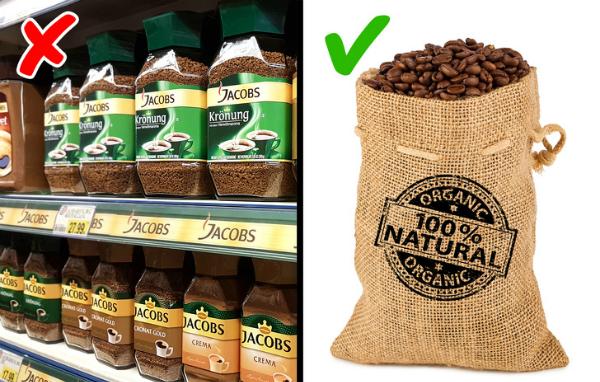 Dùng cà phê chất lượng tốt Chất lượng của cà phê phụ thuộc vào cách trồng và rang sấy. Nên chọn cà phê hữu cơ vì chúng không chứa thuốc trừ sâu và không bị xử lý hóa chất. Uống cà phê kém chất lượng về lâu dài có thể gây ảnh hưởng tới sức khỏe và thần kinh.