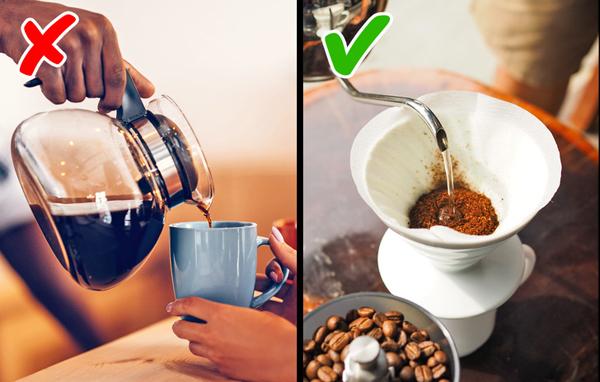Dùng giấy lọc để pha cà phê Dùng giấy lọc pha cà phê giúp làm giảm hàm lượngcafestol - phần tử làm tăng cholesterol trong cơ thể có mặt trong cà phê. Giấy lọc chỉ ngăn cafestol, vẫn giữ nguyên caffeine và các chất chống oxy hóa có lợi cho sức khỏe