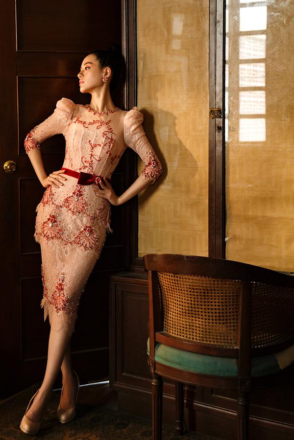 Đỗ Long giới thiệu loạt váy dạ hội đính kết kỳ công - 4
