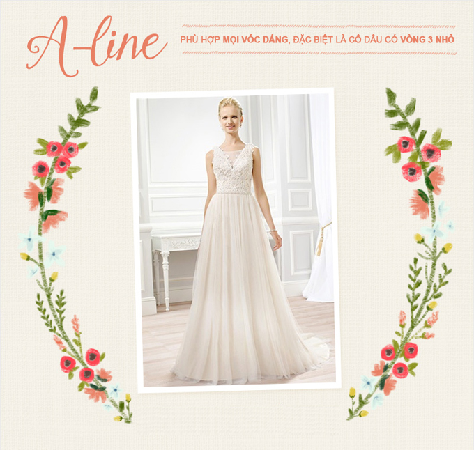 Những mẫu váy cưới kinh điển cho từng vóc dáng - 1