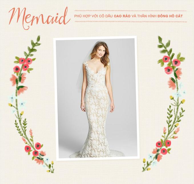 Những mẫu váy cưới kinh điển cho từng vóc dáng - 4