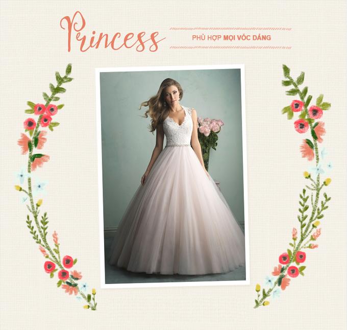 Những mẫu váy cưới kinh điển cho từng vóc dáng - 5