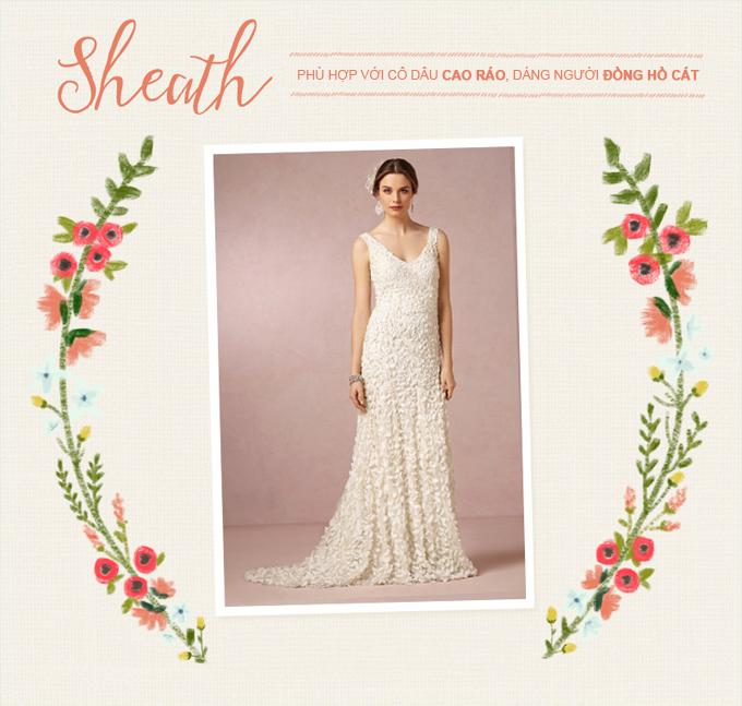 Những mẫu váy cưới kinh điển cho từng vóc dáng - 6