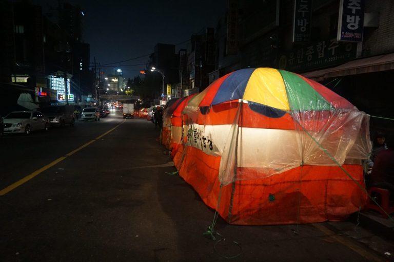 Phố lòng nướng bình dân dành cho du khách \'gà mờ\' ở Seoul