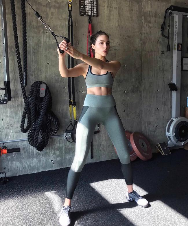 Olivia Culpo tập nhiều bộ môn để thử thách bản thân và có thêm hứng thú tập luyện.