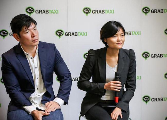 Anthony Tan và Tan Hooi Ling tại sự kiện ra mắt ứng dụng Grab ở Thái Lan năm 2015. Ảnh: Forbes.