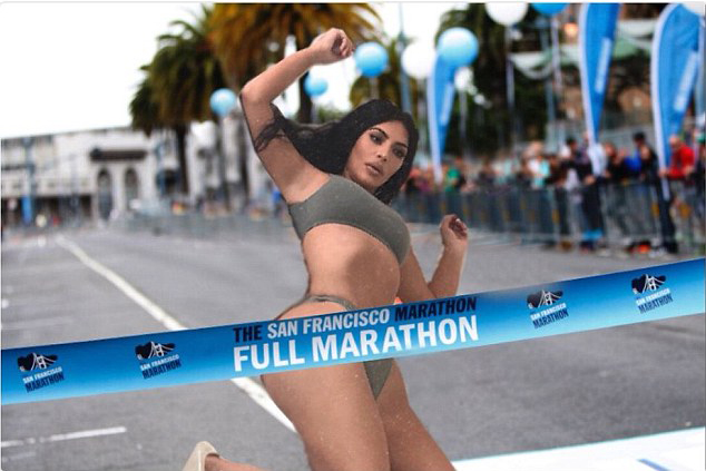 Cô như thể vừa cán đích trong cuộc thi marathon.