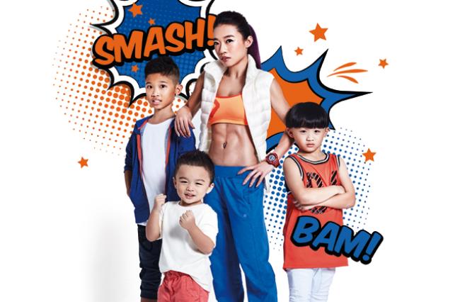 Gladys Leong cùng 3 cậu con trai: Ian (12 tuổi), Zac (7 tuổi) và Wyn (4 tuổi).
