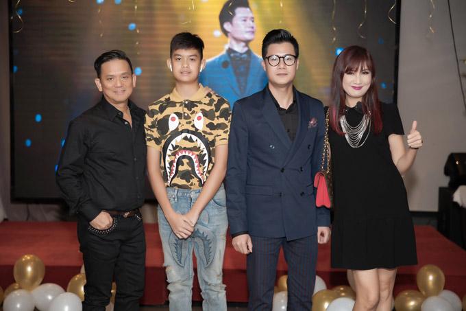 Vợ chồng diễn viên Hiền Mai cùng con trai