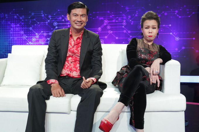 Nữ danh hài hội ngộ đồng nghiệp Tiết Cương. Hai người từng học chung trường Sân khấu Nghệ thuật TP HCM.