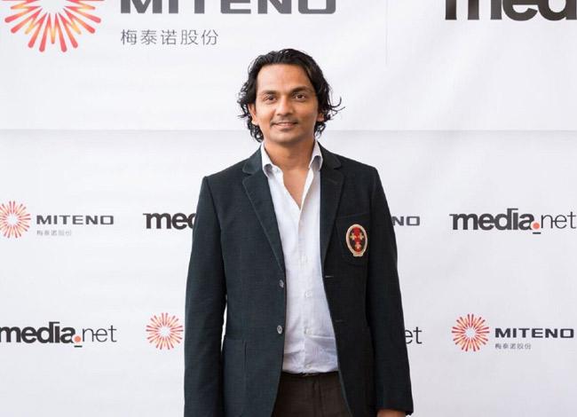 Div Turakhia tại lễ ký kết hợp đồng thương mại với Miteno năm 2016. Ảnh: Forbes.