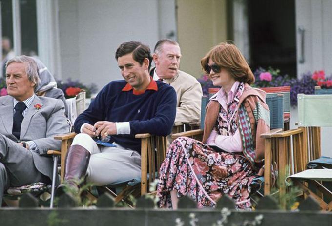 Thái tử Charles và bà Sarah trong thời gian hẹn hò. Ảnh: Tim Graham.
