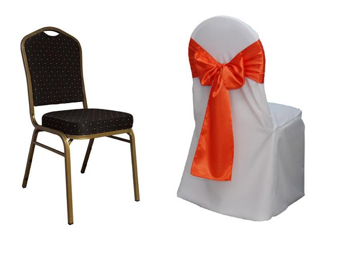 12. Ghế banquet có kiểu dáng sang trọng, đệm ghế dày và êm. Loại ghế banquet phù hợp với lễ cưới có không gian rộng lớn. Ưu điểm của ghế là được làm từ vật liệu tốt, chắc chắn. Tuy nhiên, nhược điểm là ghế cồng kềnh, không thể gấp gọn.