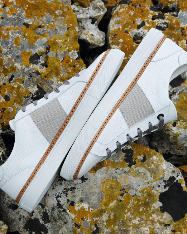 Phong cách giày thể thao kết hợp bộ vest lịch lãm, sang trọngđang thu hút nhiềutín đồ thời trang thời gian gần đây.Giày thể thao namnăng động, khỏe khoắn sẽlàm tăng sự trẻ trungcho đấng mày râu.