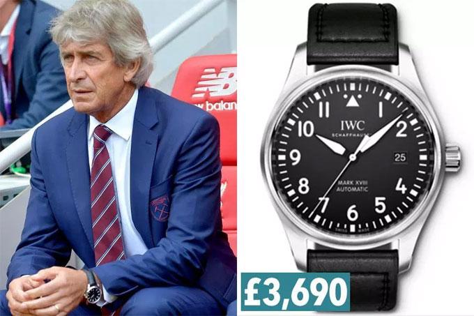 11. Pellegrini cũng thích thương hiệu IWC, model Schaffhausen Pilots Watch Mark XVIII.