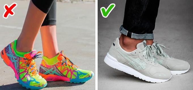 Pha trộn nhiều màu sắcKhông giống quần áo, một đôi giày nhiều màu thường tạo cảm giác trẻ con và kém thu hút hơn so với giày chỉ sử dụng tối đa hai tone.