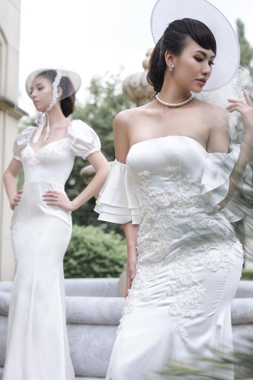 Váy cưới mang nét cổ điển, lãng mạn cho cô dâu thích sự tối giản - 1
