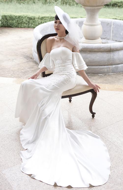 Váy cưới mang nét cổ điển, lãng mạn cho cô dâu thích sự tối giản - 3