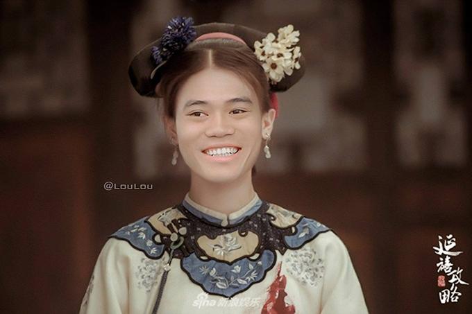 Văn Toàn cũng khá hợp với tạo hình của một nhân vật nữ.