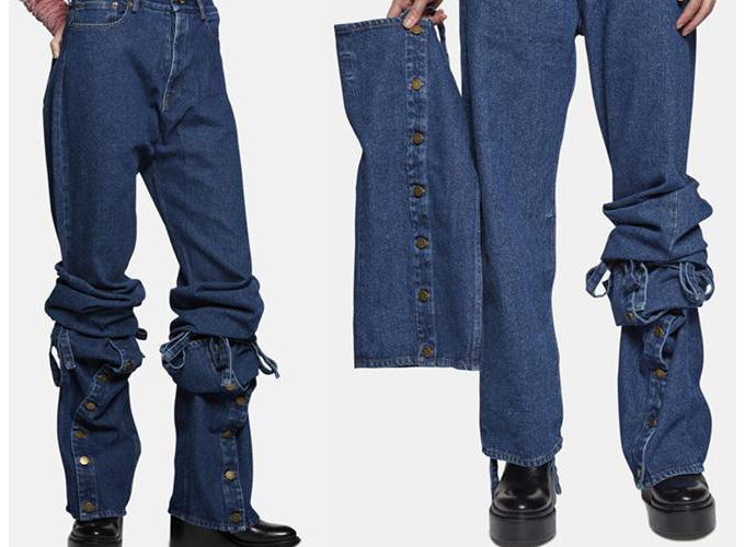 Quần jeans kỳ quặc từ nhà mốt Y/PROJECT đã không còn hàng để bán.