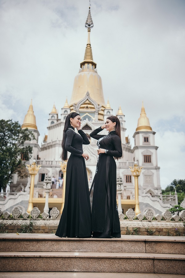 Ảnh: Huy Trần, trang điểm: Tô Vĩnh Hưng, áodài: Tuấn Hải.