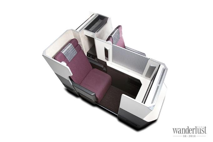 Ghế ngồi trên máy bay của Japan Airlines được thiết kế hiện đại, tạo cảm giác thoải mái, dễ chịu cho hành khách.