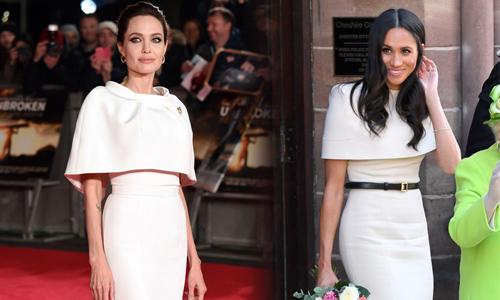 Meghan nhiều lần học hỏi phong cách Angelina Jolie