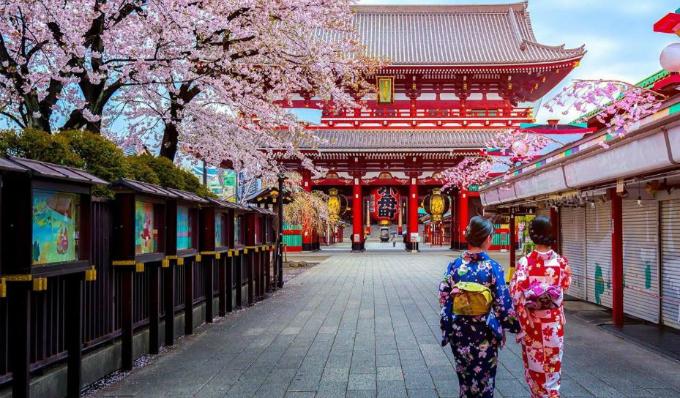Cảnh đẹp mùa thu tại Nhật Bản thu hút nhiều du khách.