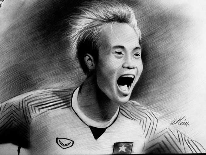 Văn Toàn - người ghi bàn thắnggiúp Olympic Việt Nam vào bán kết ASIAD.