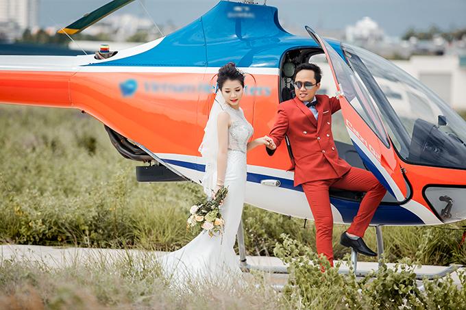 Ảnh cưới bên trực thăng của uyên ương yêu nhau nhờ mai mối - 8