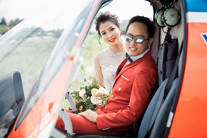 Ảnh cưới bên trực thăng của uyên ương yêu nhau nhờ mai mối - 10