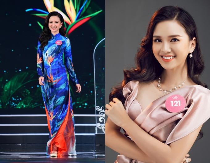 Vũ Hoàng Thảo Vy gây ấn tượng với nụ cười rạng rỡ. Người đẹp 22 tuổi, học tập tại Đại học RMIT và là em gái của Nữ hoàng sắc đẹp Vũ Hoàng Điệp.