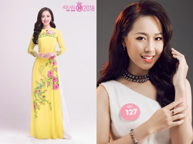 Phạm Ngọc Hà My toát lên phong thái nhẹ nhàng, duyên dáng của thiếu nữ Hà Nội.