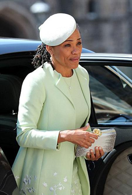 Bà Doria dự đám cưới Harry - Meghan hồi tháng 5 ở lâu đài Windsor. Ảnh: UK Press.
