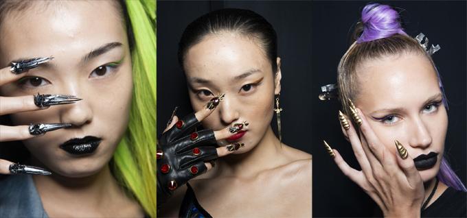 Những mẫu móng tay mất 500 giờ tô vẽ tại show thời trang của The Blonds - ảnh 1