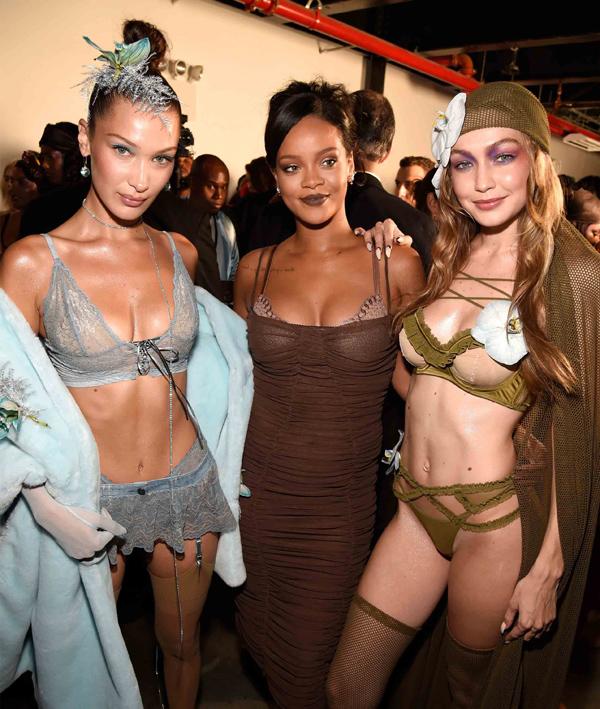 Người mẫu mang bầu diễn nội y cho Rihanna - ảnh 1