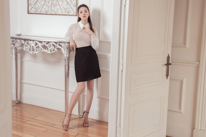 Jolie Nguyễn gợi ý trang phục thanh lịch cho cô nàng công sở - ảnh 4