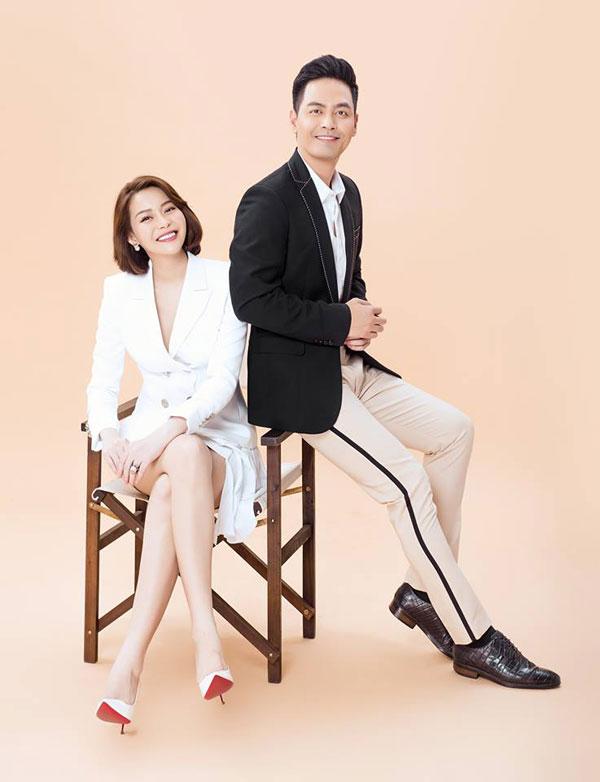 Hoa hậu Hải Dương và MC Phan Anh cùng hợp tác khai trường trung tâm làm đẹp mới.