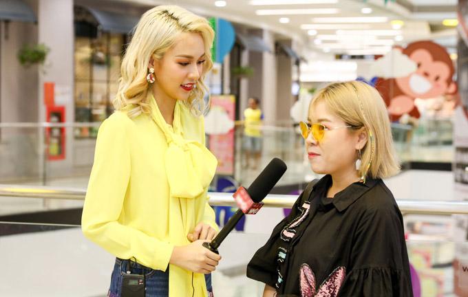 Phí Phương Anh mặc lòe loẹt đi casting tài năng thiết kế thời trang - ảnh 4