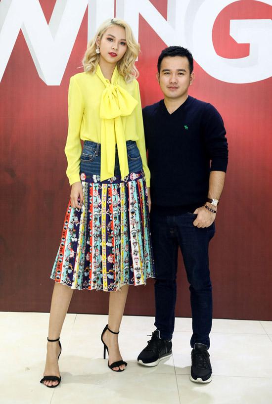 Phí Phương Anh mặc lòe loẹt đi casting tài năng thiết kế thời trang - ảnh 3