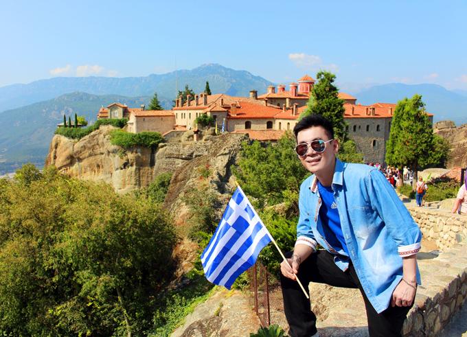 Đoan Trường mê mẩn cảnh đẹp ở Hy Lạp - ảnh 1