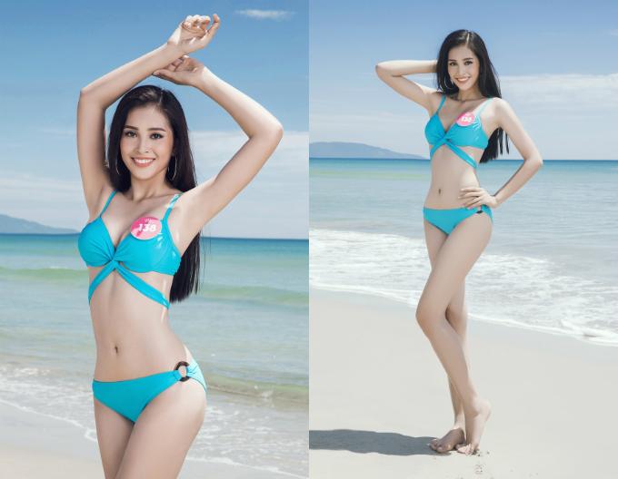 Hình thể đẹp của Tân Hoa hậu. Tại cuộc khảo sát của báo Ngoisao.net trước chung kết, Trần Tiểu Vy được bình chọn nhiều nhất với 32% tổng số phiếu.