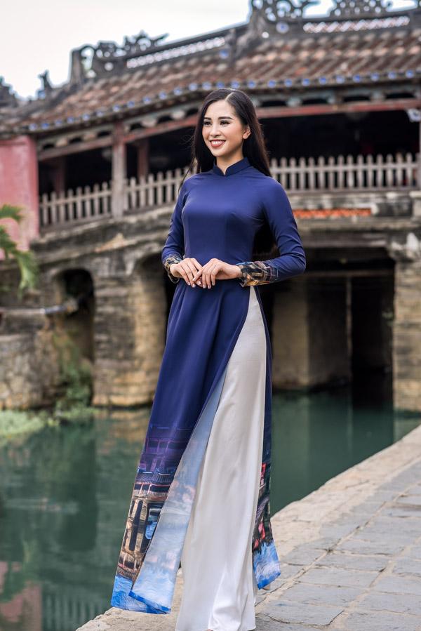 Trần Tiểu Vy trong bộ sưu tập áo dài về Hội An của Hoa hậu Ngọc Hân - 8