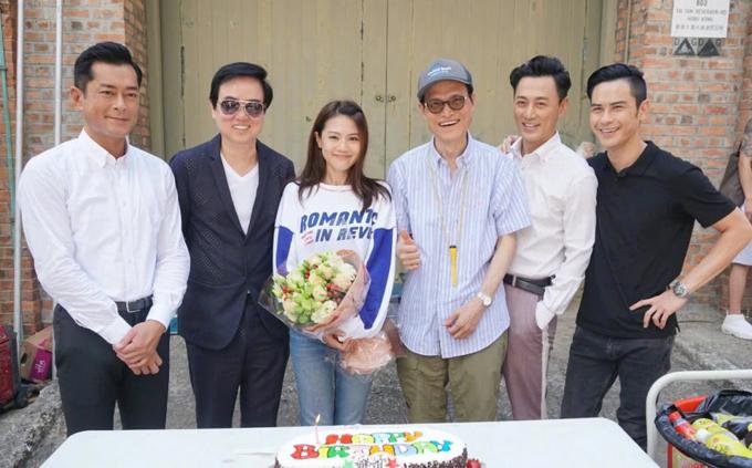 Cổ Thiên Lạc, Lâm Phong và Trịnh Gia Dĩnh trên trường quay phần 4 của loạt phim Storm. Ảnh: QQ