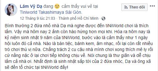 Bài chia sẻ của Lâm Vỹ Dạ trên Facebook.