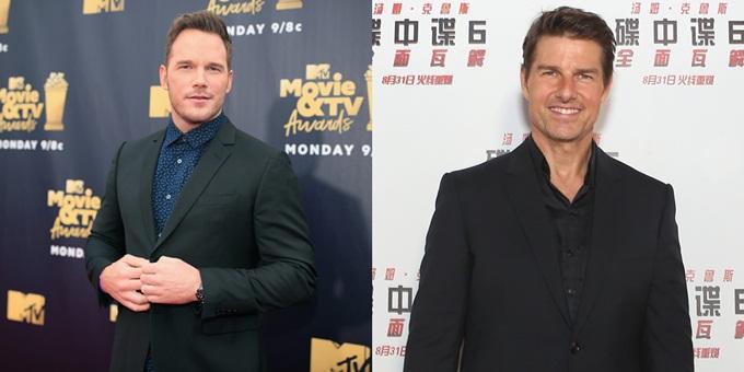 Chris Pratt (trái) và Tom Cruise.